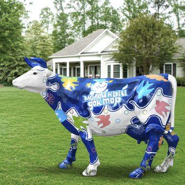 Муляж коровы из стеклопластика
